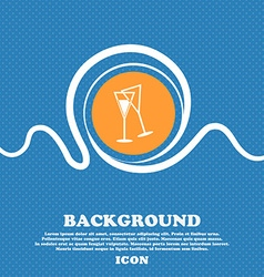 Champagne glass icon sign Blue and white abstract vector
