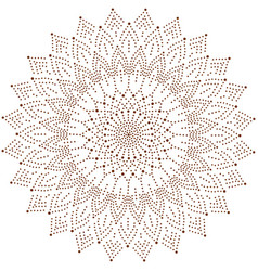 Circle floral ornament dot henna tattoo style vector