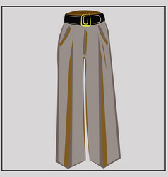 classic beige pants oversize fashion vector image
