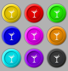 cocktail martini Alcohol drink icon sign symbol on vector image