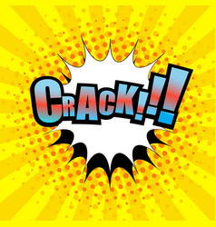 comic crack wording template vector image