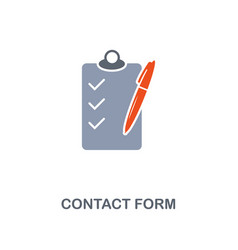 contact form icon premium two colors style design vector image