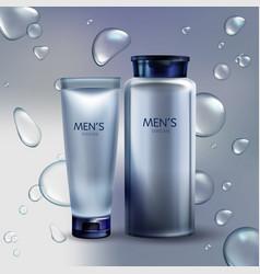 cosmetics for men shaving cream lotion vector image