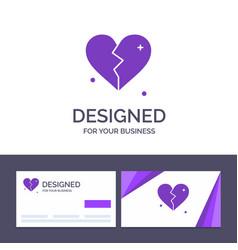 creative business card and logo template broken vector image