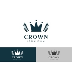 Crown abstract logo template vector