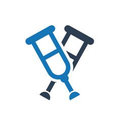 Crutches icon vector