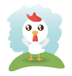 Cute chick animal wildlife vector