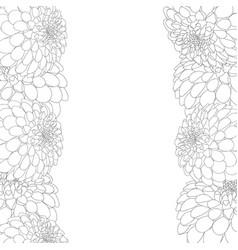 dahlia outline border vector image