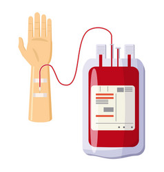 donate blood icon cartoon style vector image