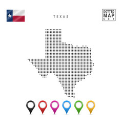 Dots pattern map texas stylized silhouette vector