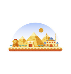 egypt icon in flat style vector image