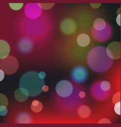 Festive background with bokeh defocused lights vector