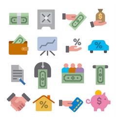 finances icon set vector image