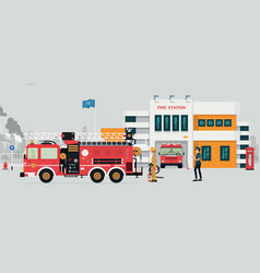 Fire station vector