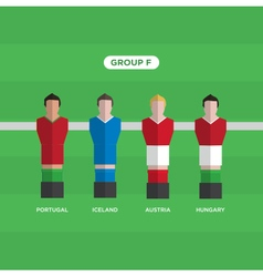 football players group F vector image