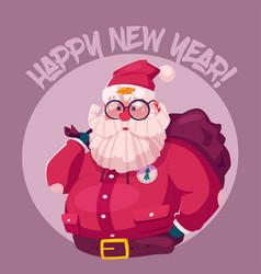 funny modern santa claus vector image