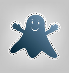 ghost isolated sign blue icon with vector image