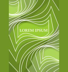 Green leaflet poster cover flyer paperback vector
