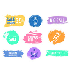 grunge discount sale badges special offer banners vector image