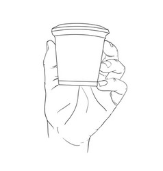 hand holding box vector image