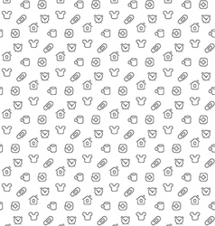 Home things pattern seamless vector image