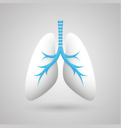 Human lungs medical art creative vector