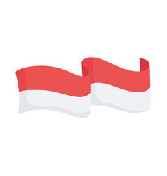 Indonesia flag emblem vector
