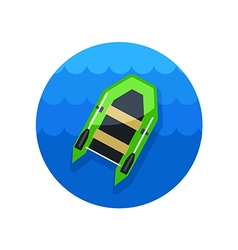 Inflatable boat icon Summer Vacation vector image