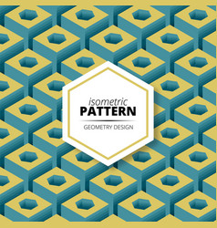 Isometric pattern design vector