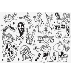 Jazz Musicians doodles vector
