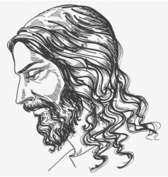 Jesus gentle sight vector image