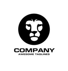 lion head logo vector image