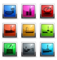 Make-up icons set vector