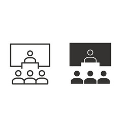 management consulting icon for graphic and vector image