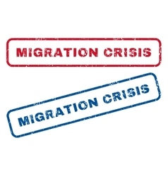 Migration Crisis Rubber Stamps vector