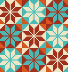 Mosaic tile colorful pattern in patchwork style vector image