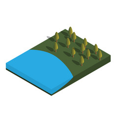 nature isometric vector image