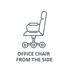 office chair from side line icon vector image
