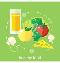 Organic health food vector