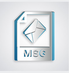 Paper cut msg file document download msg button vector