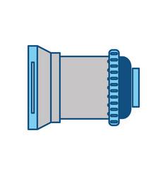 Professional camera len or shutter vector
