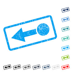 Pull left icon rubber watermark vector