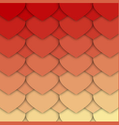 red and yellow hearts pattern vector image