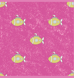 seamless pattern submarine background vector image