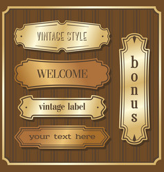 set design elements sample labels badges shapes vector image