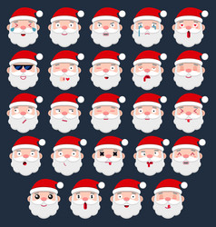 set of santa emoji vector image
