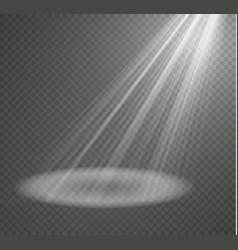 Spotlight light effectlight beam isolated vector