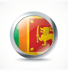 Sri Lanka flag button vector image