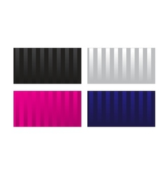Striped glossy visit card vector image
