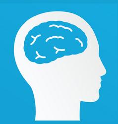 thinking man creative brain idea concept vector image